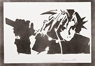 Poster Final Fantasy Cloud Strife Handmade Graffiti Street Art - Artwork