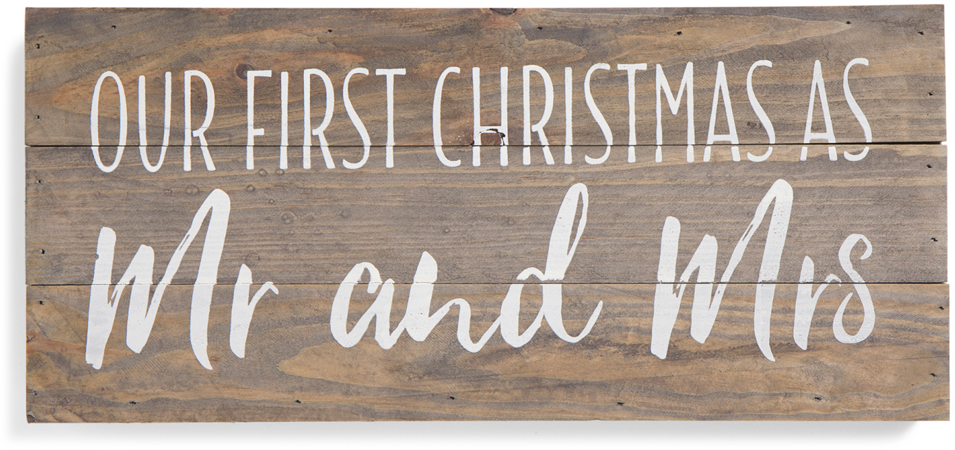 Mr And Mrs Christmas Sign