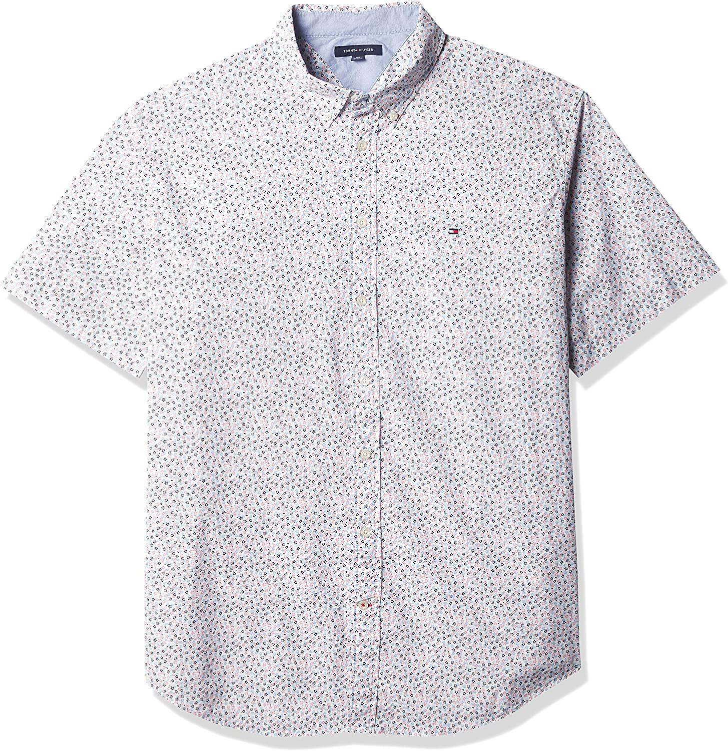 Tommy Hilfiger Men's Big & Tall Short Sleeve Button Down Shirt in Classic Fit