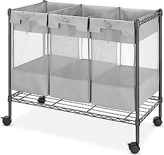 Whitmor Supreme 3 Bag Gunmetal Gray Laundry Organizer