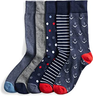 Marca Amazon - Goodthreads 5-pack Patterned Socks - casual-socks Hombre
