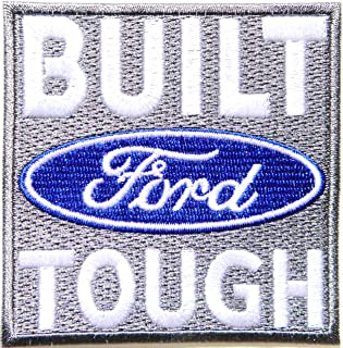 Ford BUILT TOUGH Hot Rod Truck Pickup Sport Car Racing Patch Iron on Applique Embroidered T shirt Jacket Baseball Cap Hat Advertising Logo Badge Emblem Sign Accessories Craft Gift