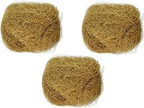 (3 Pack) Prevue Pet Products Sterilized Natural Coconut Fiber for Bird Nest
