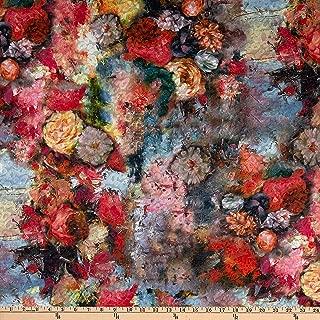 Telio Kimono Uragiri Novelty Knit Floral Print Rose Fabric
