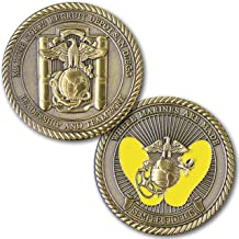 Marine Corps Challenge Coin! Recruit Depot San Diego Challenge Coin, MCRD Yellow Foot Prints! Designed For Marines By Marines! Solid Brass Die Struck Military Coin USMC!