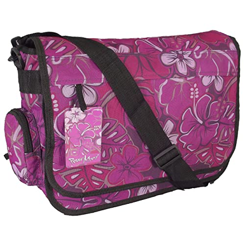 8775bc758939 Purple floral print Large A4 size Courier bag or sling shoulder style girls  satchel   CABIN
