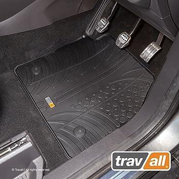 Anthracite Carpet Black Heel Pad Ultra Durable Full Width Heel Pad Car Mats to fit Transit Courier 2 Seats 2014+ 1625 Grey Trim