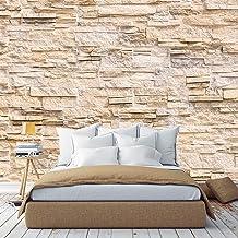 murimage Fotobehang stenen muur 3D optiek 366 x 254cm inclusief lijm stenen vintage woonkamer patroon behang slaapkamer ke...