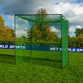 FORB Freestanding Golf Practice Cage and Net | 10ft x 10ft x 10ft | Optional Hitting Mat