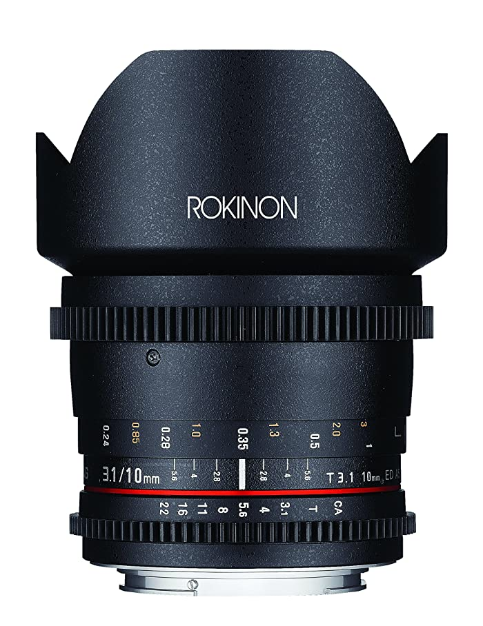 Rokinon DS10M-NEX 10mm T3.1 Cine Wide Angle Lens for Sony Alpha E-Mount Interchangeable Lens Cameras ennagigch946