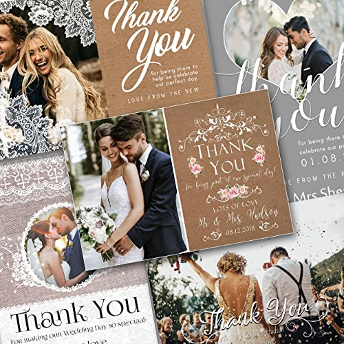 6114755db6769 Thank You Cards Wedding: Amazon.co.uk