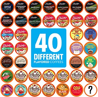 Two Rivers Coffee Flavored Coffee Pods Variety Pack Sampler, Compatible with 2.0 Keurig K Cup Brewers, - Assorted Flavor B...