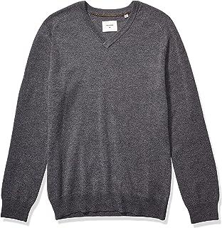 Men's Extrafine Merino Wool Cashmere Pullover V-Neck Sweater