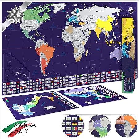 Cartina D Italia 1940.Mappa Del Mondo Da Grattare Xl 82x44cm Mappe Di Italia E Europa 33x23cm Made In Italy Idea Regalo Blu Argento Amazon It Cancelleria E Prodotti Per Ufficio