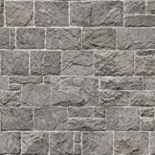 InHome NHS3759 Kennedy Stone Wallpaper, Grey