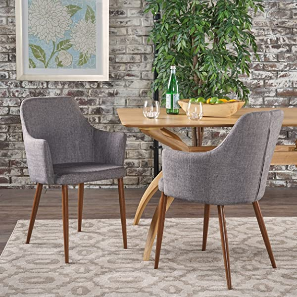Christopher Knight Home 301733 Dining Chairs Light Grey Dark Brown