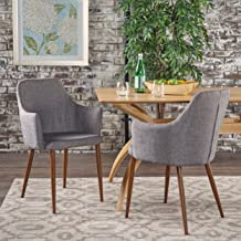 Christopher Knight Home Dining Chairs, Light Grey/Dark Brown