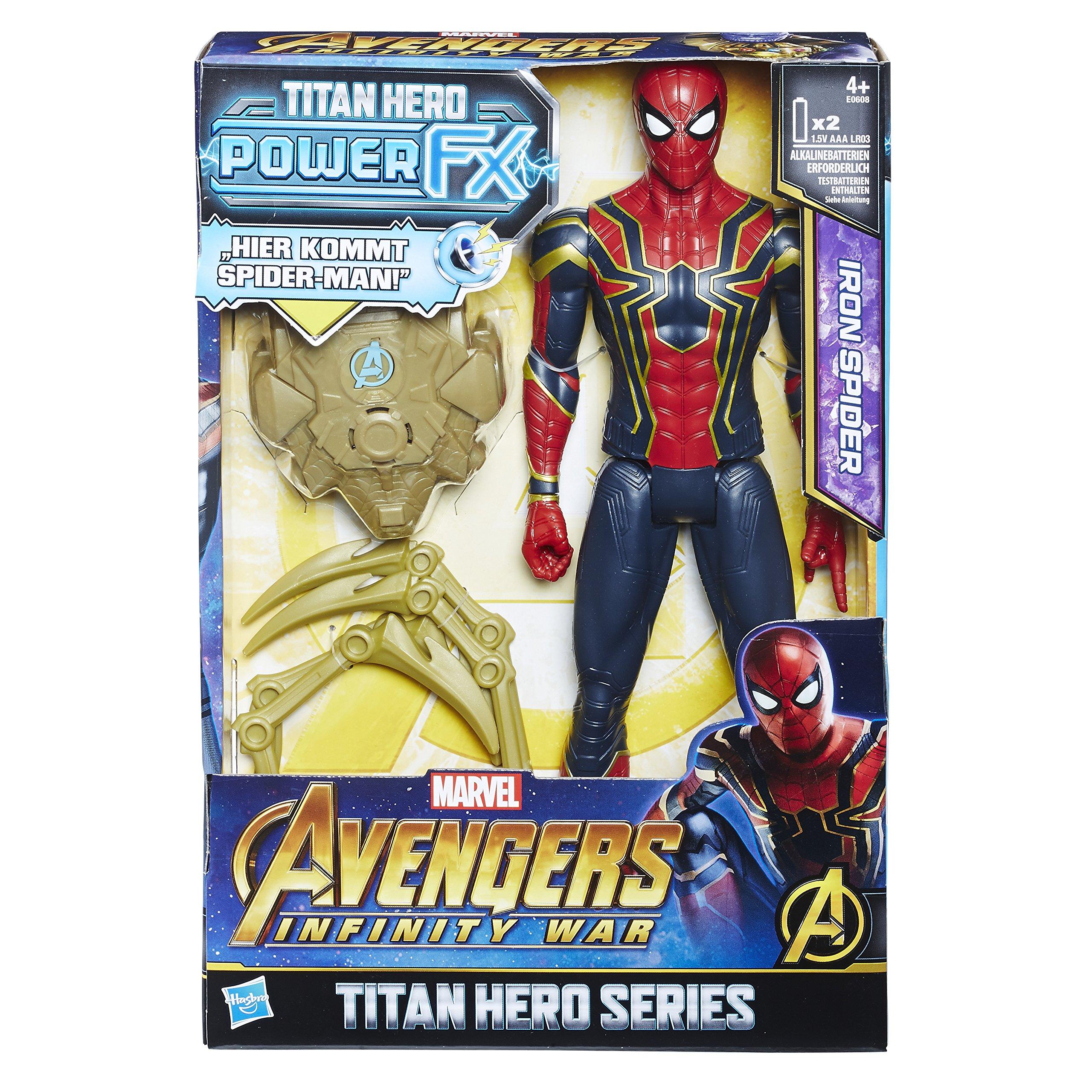 Hasbro Avengers e0608100 – Marvel Titan Hero Spider-Man Figura de acción, con Power FX Pack, DT. Versión: Amazon.es: Juguetes y juegos