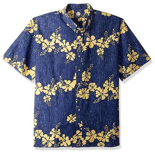 3eebd6fd Reyn Spooner Men's 50th State Flower Spooner Kloth Classic Fit Hawaiian  Shirt
