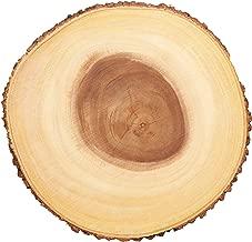 """Kitchencraft Artesà Árbol tronco tabla de quesos/bandeja con borde de corteza de madera natural, 30cm (12""""), diseño redondo, madera, marrón, 30x 30x 2,2cm"""