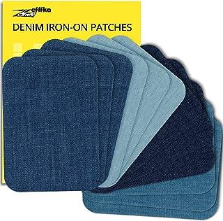 ZEFFFKA Premium Quality Denim Iron On Jean Patches Shades...
