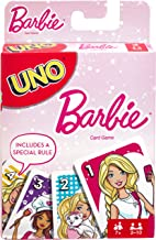 UNO Barbie Card Game, Matching Barbie Characters, for 2 to 10 Players Ages 7 Years and Older