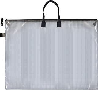 PRO ART PRO-7215H Mesh/Vinyl Bag with Handle and Zipper, 19 by 25-Inch