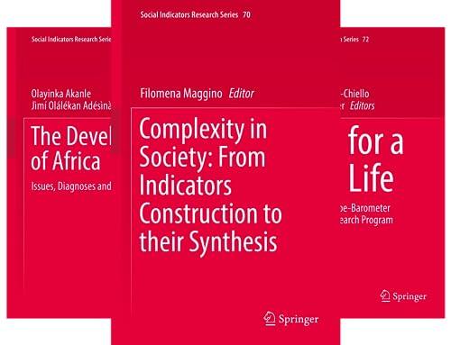 Social Indicators Research (51-64) (14 Book Series)