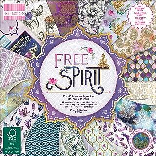 "FIRST EDITION Paper - Free Spirit Premium Paper Pad 6"" x 6"" / 15.2 x 15.2 cm, Multicolour, 6x6"