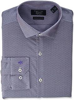 ORIGINAL PENGUIN Slim Fit Spread Collar Fashion Dress Shirt Camicia Elegante Uomo