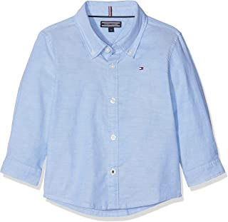 Tommy Hilfiger Boys Stretch Oxford Shirt L/S Blusa para Niños
