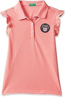 United Colors of Benetton Girl's Plain Regular fit Polo