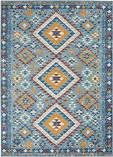 "Nourison Passion Bordered Blue/Multicolor 8' Runner Area Rug , 2'2"" x 7'6"""