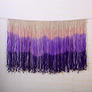 laddawan Dip-Dyed Macrame Wall Art Curtain Home Décor,Wall Hanging Tapestry 47