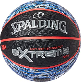 Spalding NBA Extreme Soft Grip Technology Basketball, 7 Size, Gray/Red