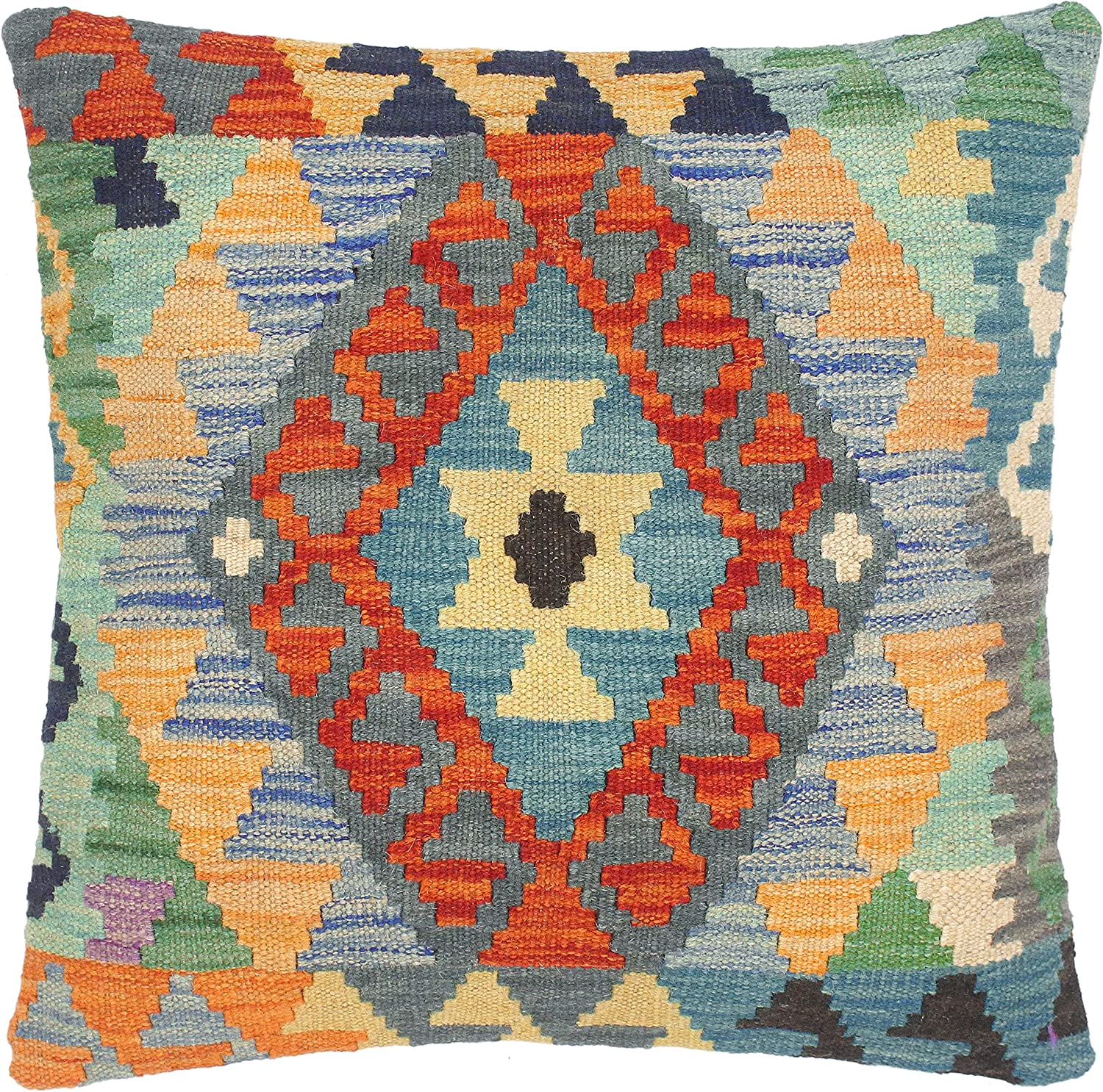 Sales of Attention brand SALE items from new works Geometric Turkish Jonelle Hand Kilim Woven Pillow Throw