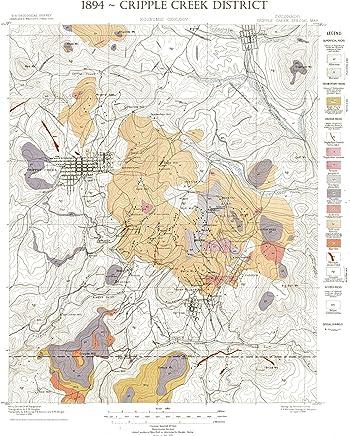 """1898 USGS Telluride CO Quad~Topo~Mining ~ 24/""""x18/"""""""