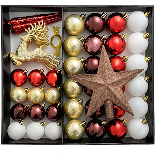 Red And Gold Christmas Tree Decorations Amazon Co Uk