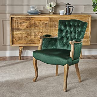 Christopher Knight Home Alfred Traditional Emerald Velvet Dining Chair