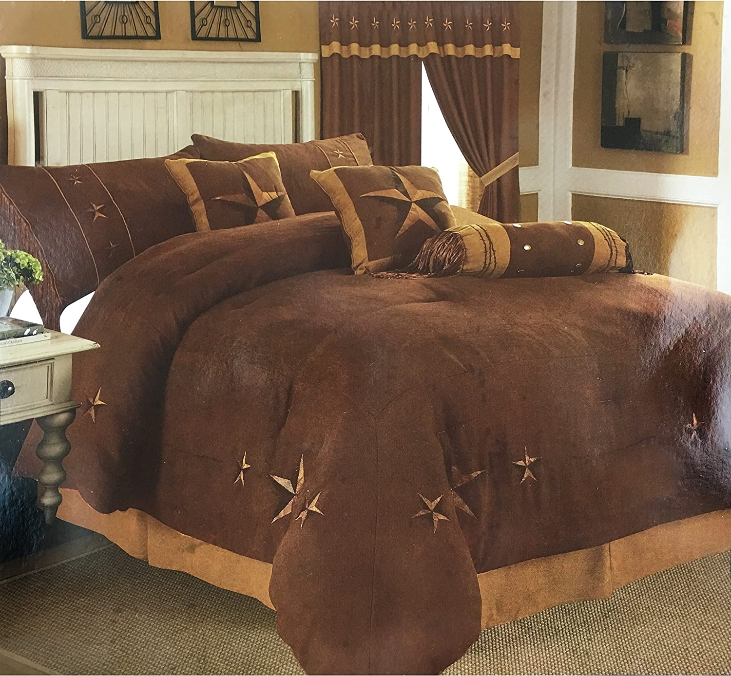 Western Ultra-Cheap Deals Peak Oversize Embroidery Texas Star Comfor Suede Credence