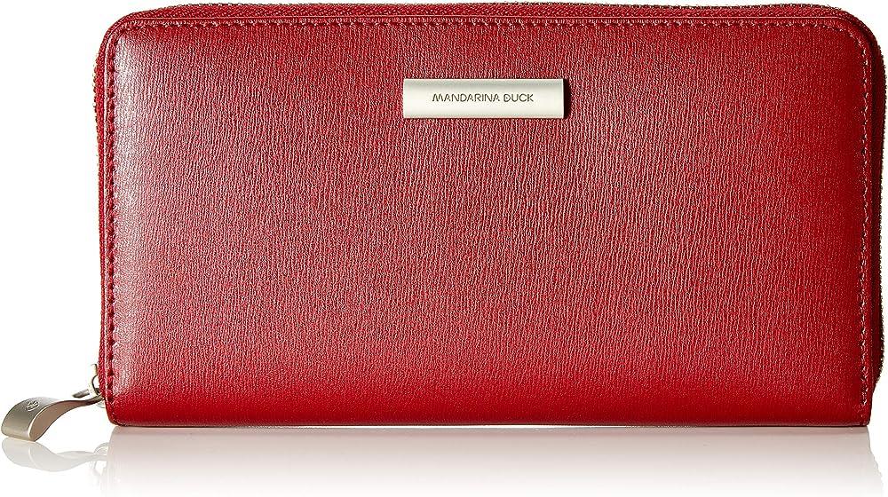 Mandarina duck hera 3.0 portafoglio donna porta carte di credito in pelle sintetica P10FZP70