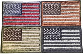 DURO Gear Tactical USA Flag Morale Velcro Patches - Multi-Colored - 4 Pack