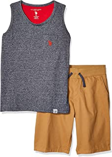 U.S. Polo Assn. Boys 2 Piece Tank Top and Short Set Shorts Set