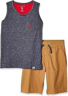 U.S. Polo Assn. Boys 2 Piece Tank Top and Short Set Shorts Set