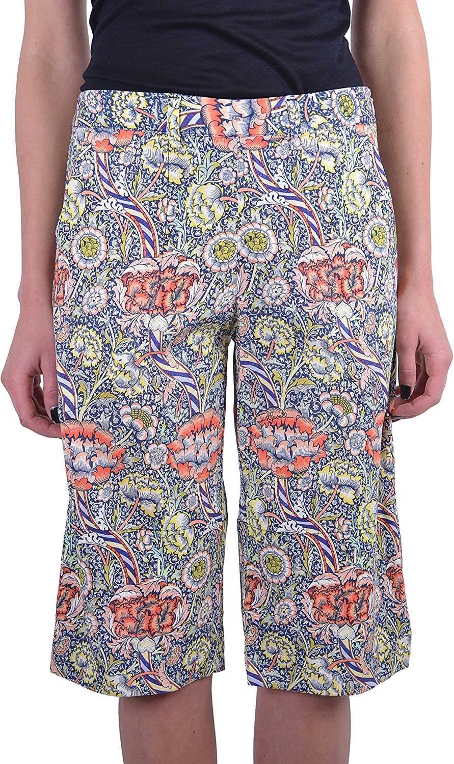 Just Cavalli Women's Multicolor Flat Front Casual Shorts US 4 IT 40