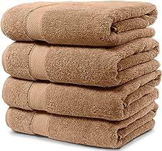 Maura 4 Piece Bath Towel Set. 2017 Premium Quality Turkish Towels. Super Soft, Plush and Highly Absorbent. Set Includes 4 Pieces of Bath Towels (Bath Towel - Set of 4, Sand)