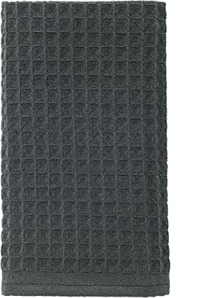 Ritz TechStyle Large Ultra-Absorbent Waffle Knit Microfiber Kitchen Dish Towel,  26-inches by 16-inches,  Charcoal