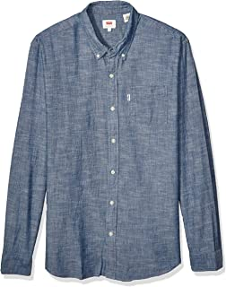 NEW NWT LEVI/'S MEN/'S COTTON CLASSIC LONG SLEEVE BUTTON UP DRESS SHIRT-381061CC