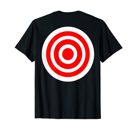 232b27cc Image Unavailable. Image not available for. Color: Target T Shirt funny  printed on the back bulls eye gift tee