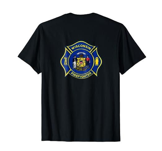 Amazon Com Wisconsin Fire Department T Shirt Firefighters Firemen